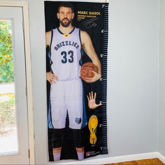 Wall Decor Marc Gasol Memphis Grizzlies Measure Up Banner Nba Poshmark